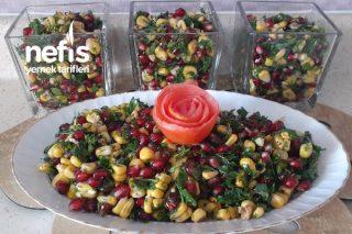 Çok Renkli Nar Salatası (Videolu) Tarifi