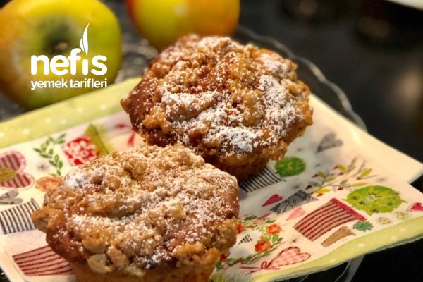 Elmalı Streusel Muffin (Yumurtasız, Sütsüz, Tereyağsız – Vegan) Tarifi