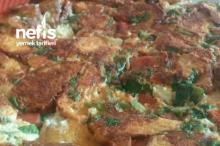 Simitli Omlet  (Haftasonu Kahvaltısı İçin) Tarifi