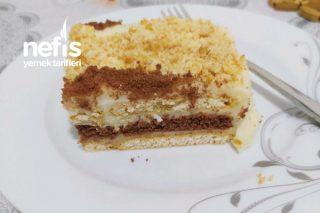Yalancı Tavuk Göğsü Muhallebili Yaş Pasta Tadında Bisküvili Pasta Tarifi