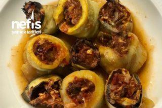 Kıymalı Patlıcan Rulo (Yağsız) Tarifi