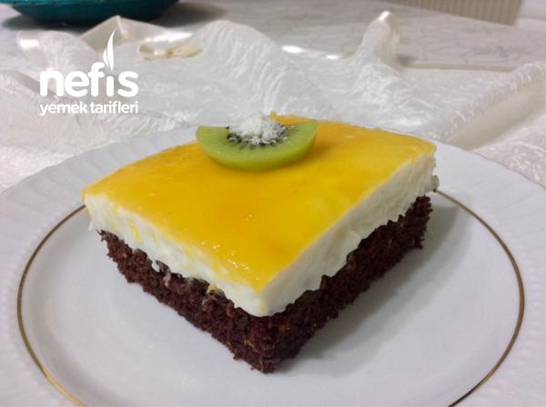 Muhteşem Kremalı Mandalina Soslu Yumuşacık Borcam Pastası