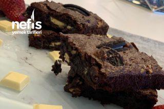 Oreolu Beyaz Çikolatalı Browni Tarifi