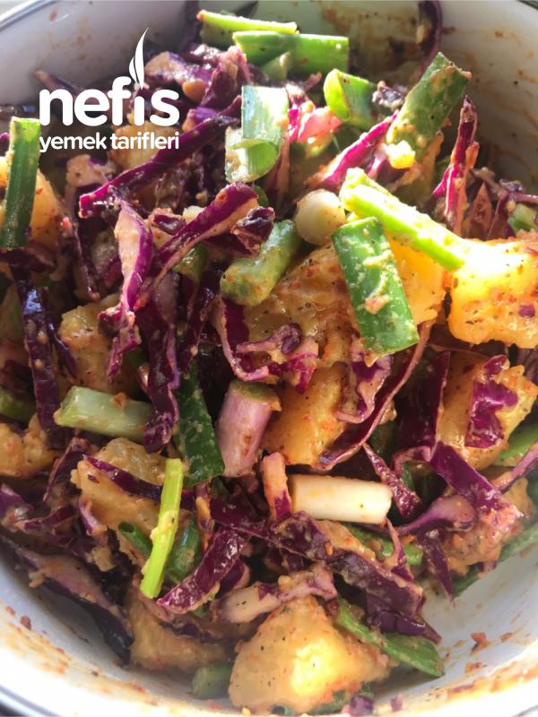 Hardal Soslu Patates Salatası (Çok Kolay)