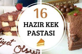 Hazır Kek Pastaları: Kolay, Şık Sunumlu 16 Tarif Tarifi