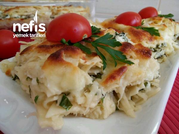 Su Böreği Tadında Peynirli Lazanya