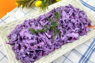 Yoğurtlu Mor Lahana Salatası (Videolu) Tarifi