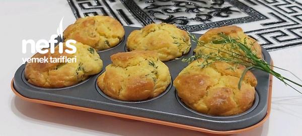 5 Dakikada Kahvaltıya 6 Adet Patatesli Muffin