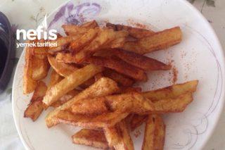 Baharatlı Çok Pratik Patates Kızartması Tarifi