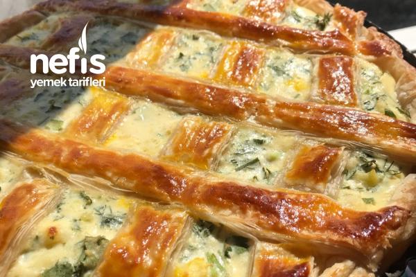 Milföy Hamurundan Pratik Peynirli Kiş Tarifi
