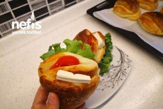 Cepli Poğaça Tarifi / Sandviçli Poğaça / Tek Başına Kahvaltı (videolu)