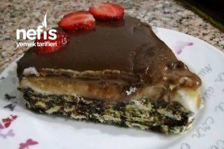 Çikolata Soslu Muhallebili Mozaik Pasta Tarifi