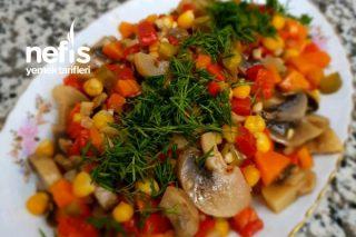Enfes Mantar Salata Tarifi
