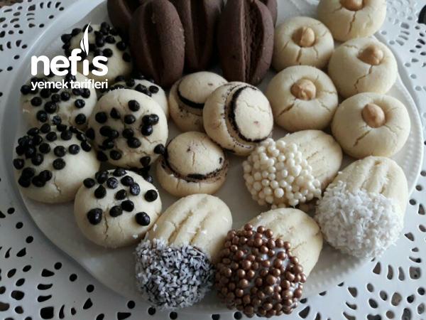 sıvıyağlı 3 Malzemeli hamurdan kurabiye şekillendirme