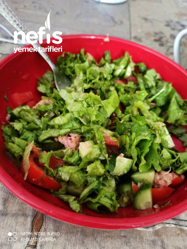 Ton Balikli Ogrenci Salatası :)