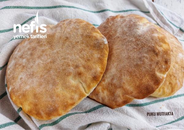 30 dk'da Ev Yapımı Pita Ekmeği