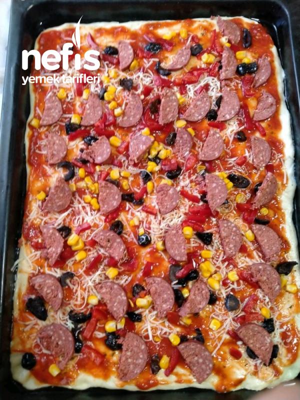 Pizza (Mayalanması Beklemeden Çabuk Pizza)