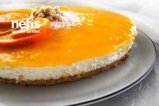 Beyaz Çikolatalı Portakallı Pişmeyen Cheesecake Tarifi