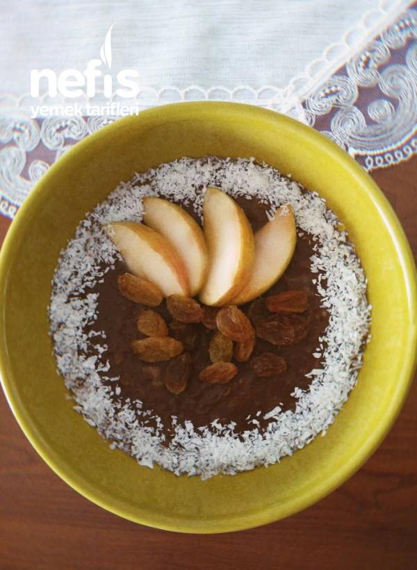 Kakaolu Elmalı Yulaf Ezmesi (Diyet)