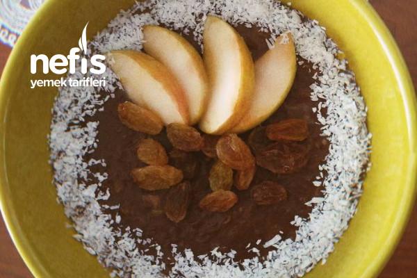 Kakaolu Elmalı Yulaf Ezmesi (Diyet) Tarifi