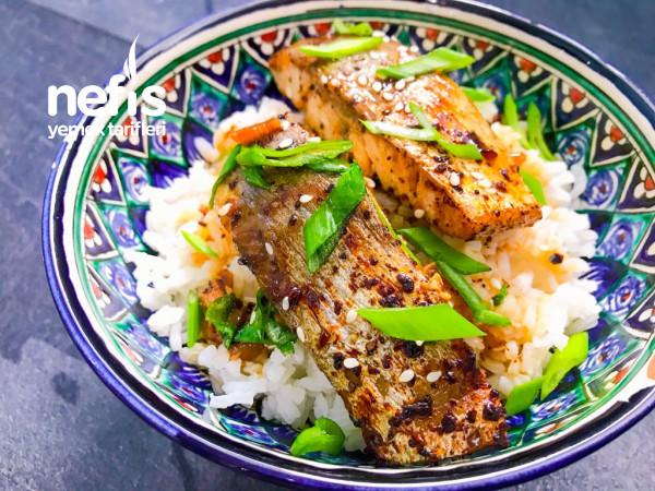 Soya Soslu, sarımsaklı Balık kızartması (Köre tarzında)
