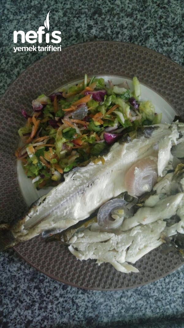 Yaprak Sarma Fırında Balık