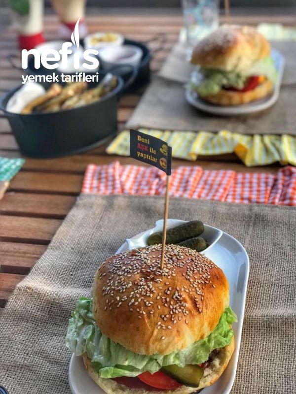Evde Double Hamburger