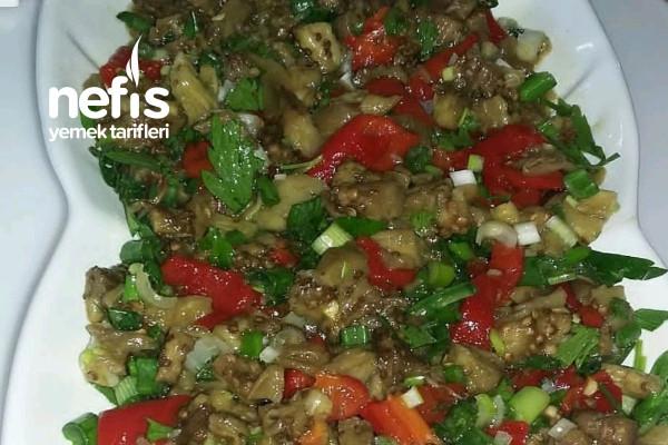 Közlenmiş Patlıcan Salata Tarifi