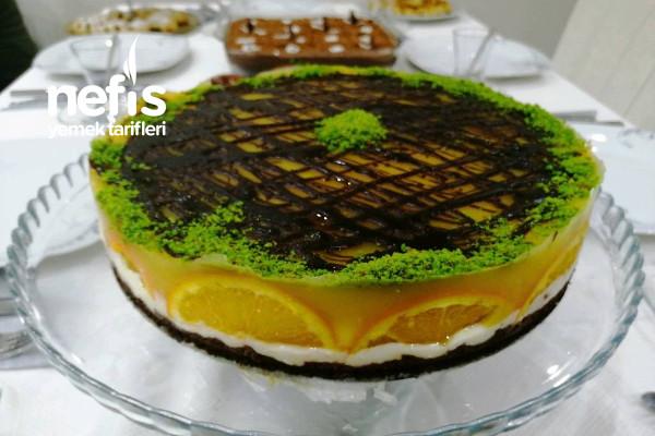 Muhallebili Portakal Tatlısı (Cheesecake Görünümünde) Tarifi