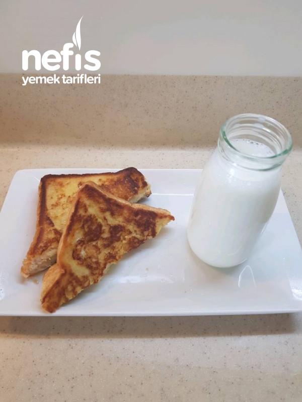 Tavada Yumurtalı Tost (çocukların çok sevdiği)