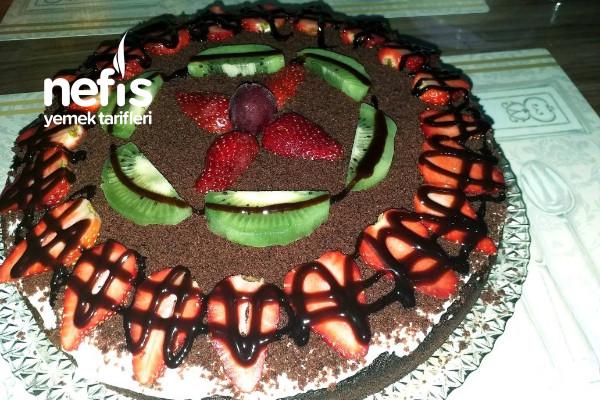 Çaylı Kakaolu Kek Pasta Tarifi