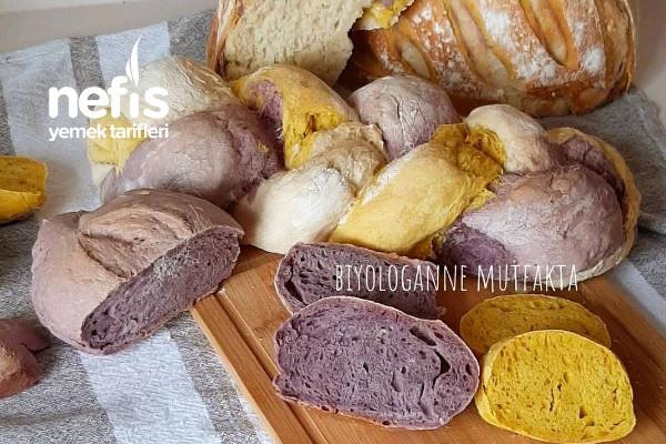 Mor Ekmek, Zerdeçallı Ekmek , Ekmek Yapımı Tarifi