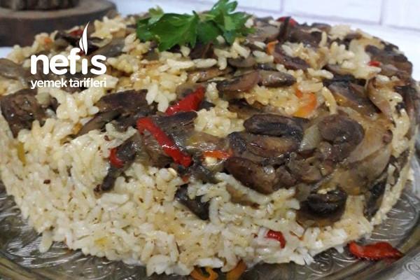 Mantarlı Etli Pirinç Pilavı