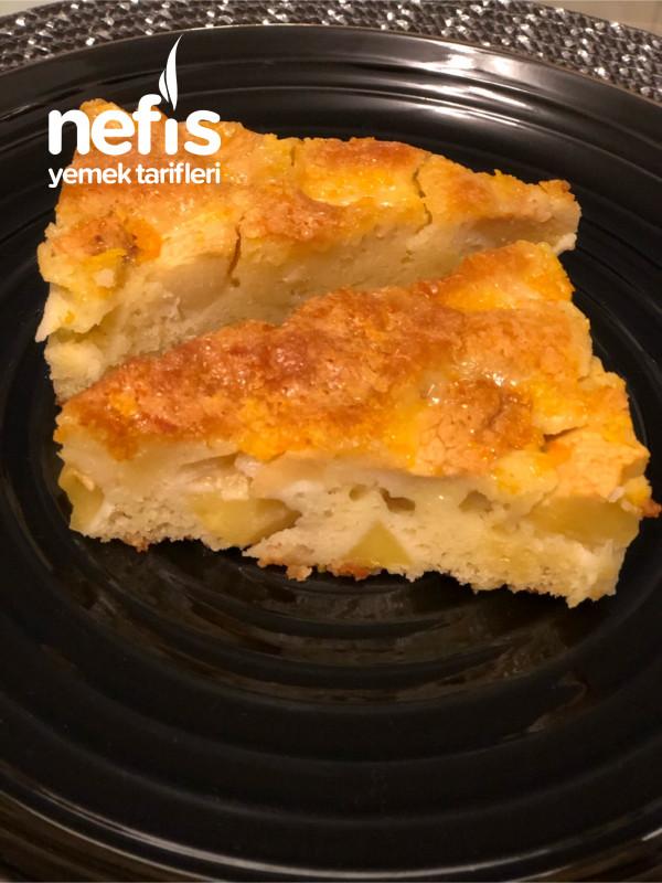 Nefis Sosuyla Elmalı Pasta (Çok Pratik)