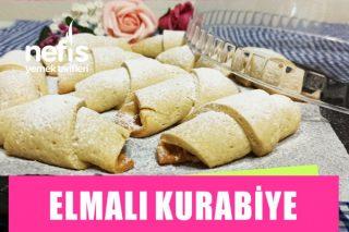 Yiyen Bir Daha İsteyecek! Tam Ölçülü Kıyır Kıyır Pastane Usulü Elmalı Kurabiye Tarifi