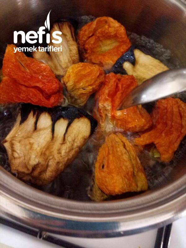 Kuru Patlıcan-biber Dolması