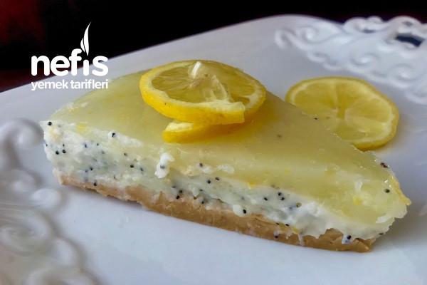 Limonlu Haşhaşlı Pişmeyen Cheesecake Tarifi