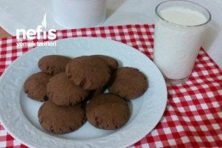 Çikolatalı Kurabiye (3 malzeme ile) Tarifi