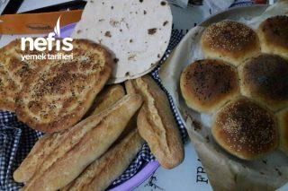 Evde Ekmek Yapımı (Tek Hamurdan 4 Çeşit Ekmek) Tarifi