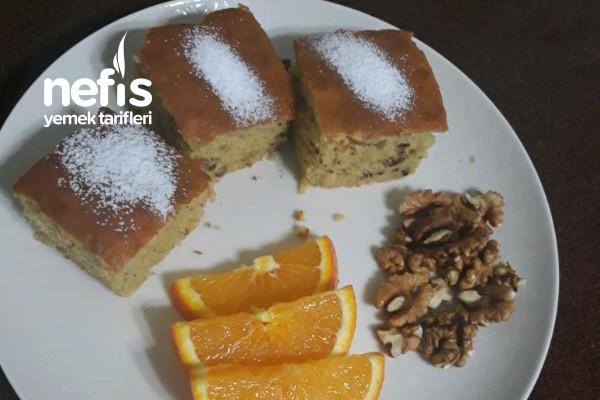 Portakallı & Cevizli Efsane Kek Tarifi