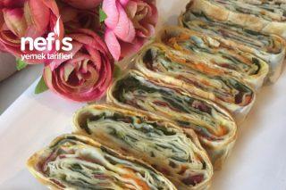 Renkli Börek (Rulo Ve Gül Şeklinde) Tarifi