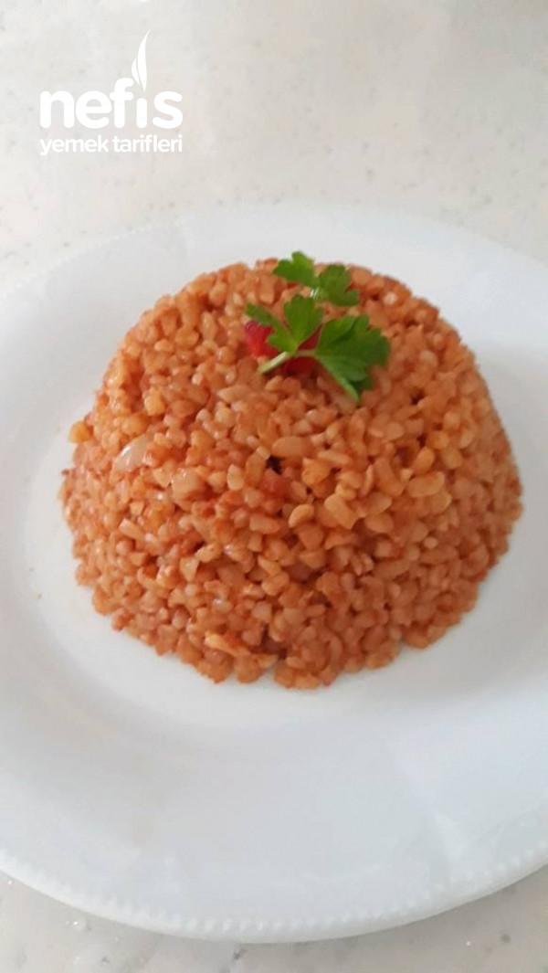 Tavuk Sulu Bulgur Pilavı
