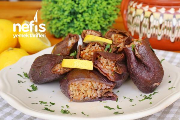Antep Usulü Kuru Patlıcan Dolması Tarifi (videolu)