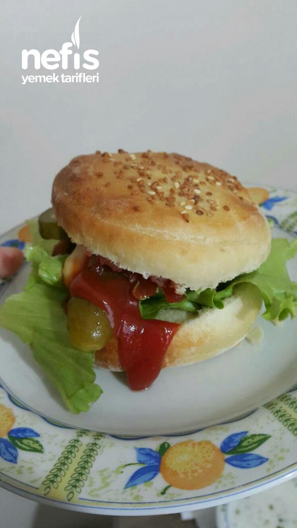 İdaalı Enfes Hamburger Ekmeği (Lezzet Garantili)