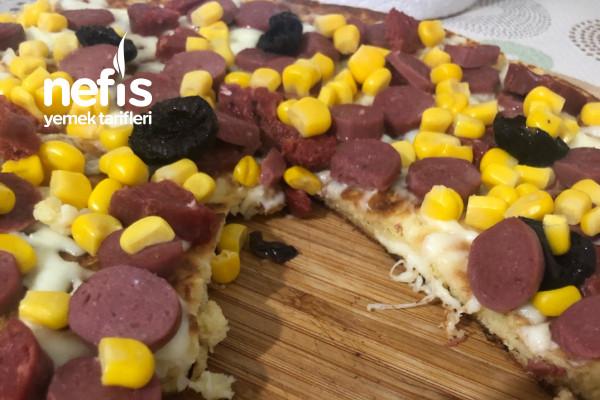 Omlet Hamurundan Pizza Tarifi