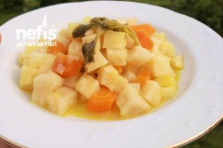 Zeytinyağlı Portakallı Kereviz Yemeği Tarifi