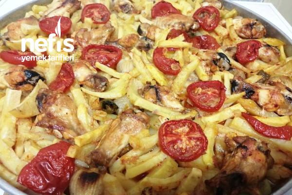 Fırında Patatesli Tavuk Kanat (En Kolay Ana Yemek) Tarifi