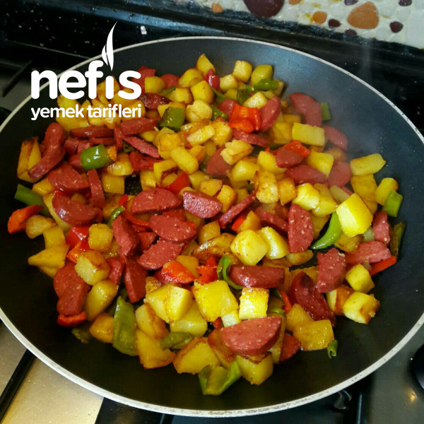 Kahvaltılık Sucuklu Patates
