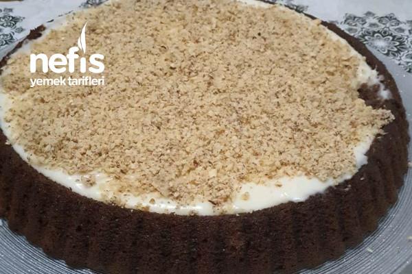 Tart Kalıbında Kakaolu Kremalı Kek Tarifi