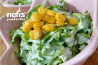 Yoğurtlu Marul Salatası Marulun En Güzel Hali Tarifi